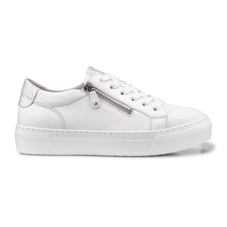 Gabor Shoes Gabor Casual, Zapatos de Cordones Derby para Mujer 42 EU|Weiss/Ice