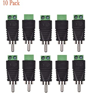 "1x 3.5mm 1//8/"" Mono Female To AV Screw Video Balun Terminal Plug Adapter Connecor"