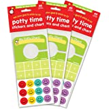 Potty Time Stickers and Chart, Hooks Onto Door Knob: Value 3 Pack