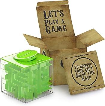 AGREATLIFE Caja Money Maze Laberinto De Dinero | Cubo Puzzle Rompecabezas | Idea Original para Regalar