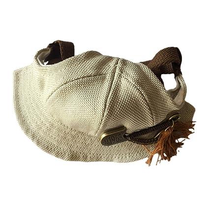 MonkeyJack Braided Pet Hat Dog Cat Puppy Visor Cap Outdoor Walking Training  Sun-shading Bucket d2ef6f2861f1