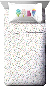Jay Franco Trend Collector Be Sweet Full Sheet Set - 4 Piece Set Super Soft and Cozy Kid's Bedding - Fade Resistant Microfiber Sheets