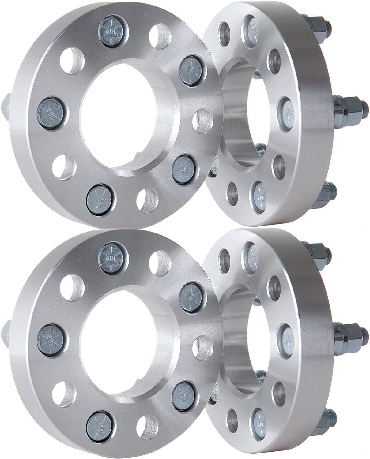 ECCPP 4X 1 5x4.5 to 5x4.5 Wheel Spacers Adapters 5 Lug 70.5mm 1//2 x20 Fit for Ford Mustang Crown Victoria Ranger Lincoln Town Car Mazda B3000 B4000 with 1//2 Studs