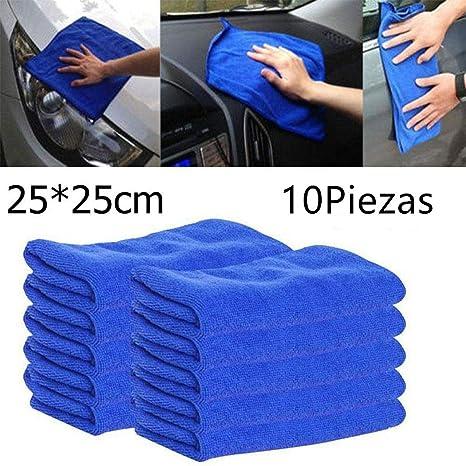 Kisshes 10PCS / Bolso Toalla de Microfibra de absorción de Agua Cuadrada no caída Toalla de