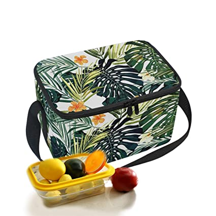 9abf301ddbd6 Amazon.com: Hawaii Colorful Palm Trees Insulated Lunch Box Insulated ...
