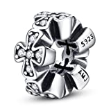 Amazon Price History for:Cross Spacers 925 Sterling Silver Charm Religion with Clear CZ for Bracelet Jewelry
