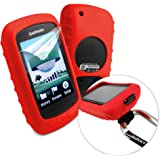 Tuff-Luv Silicone Gel Skin Case & Screen Cover for Garmin Golf Approach G6 / G7 - Red