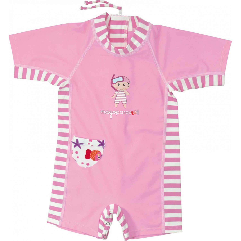 Tutti i Vestiti Anti UV Bambina 0-2 Anni Mayo Parasol Maglietta Anti-UV per Bambina