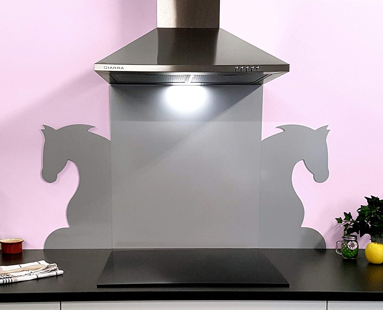 Aparador de cocina color gris plata decoración caballo: Amazon.es: Grandes electrodomésticos
