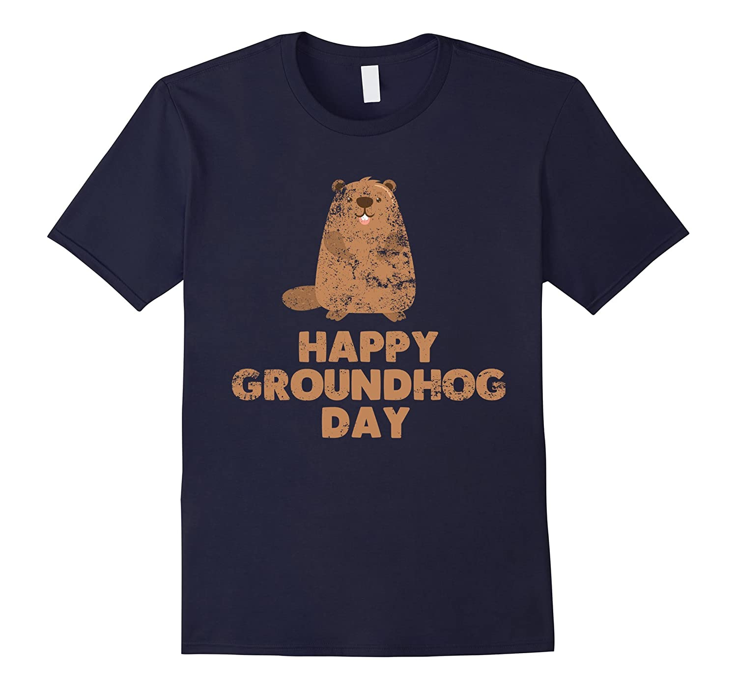 Awesome And Funny Happy Groundhog Day Tee Shirt Rt