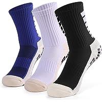 Lixada 1 Par / 3 Pares (Opcional) Calcetines de Fútbol Antideslizantes para Hombres Calcetines Deportivos de Tubo Alto…