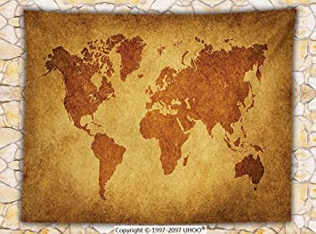 Amazon wanderlust decor fleece throw blanket vintage world map wanderlust decor fleece throw blanket vintage world map retro background antique historic earth chart ancient boho gumiabroncs Gallery