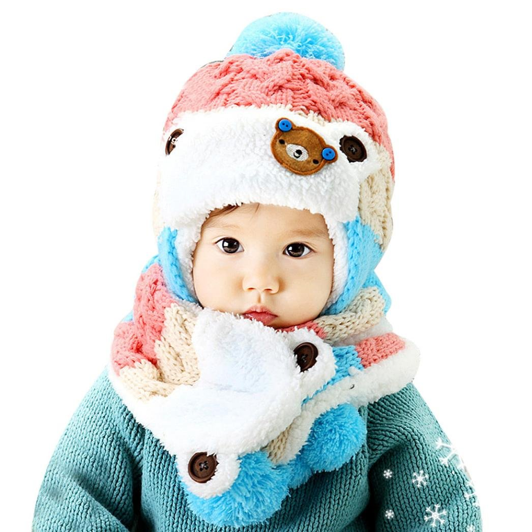 Changeshopping Lovely Baby Cartoon Hats Baby Hats Scarf Winter Autumn Changeshopping 5464