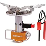 REDCAMP Portable Backpacking Stove for Camping with Piezo Ignition, 3500w Ultralight Mini Pocket Stove