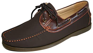 707986ee000 Men s Coolers Faux Nubuck Leather Loafer Lace Up Boat Deck Shoes Sizes 7 -  11 (