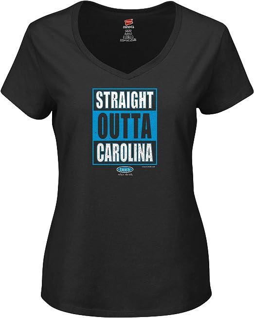 Smack Apparel Carolina Football Fans Xs-2x Straight Outta Carolina Black Ladies Shirt