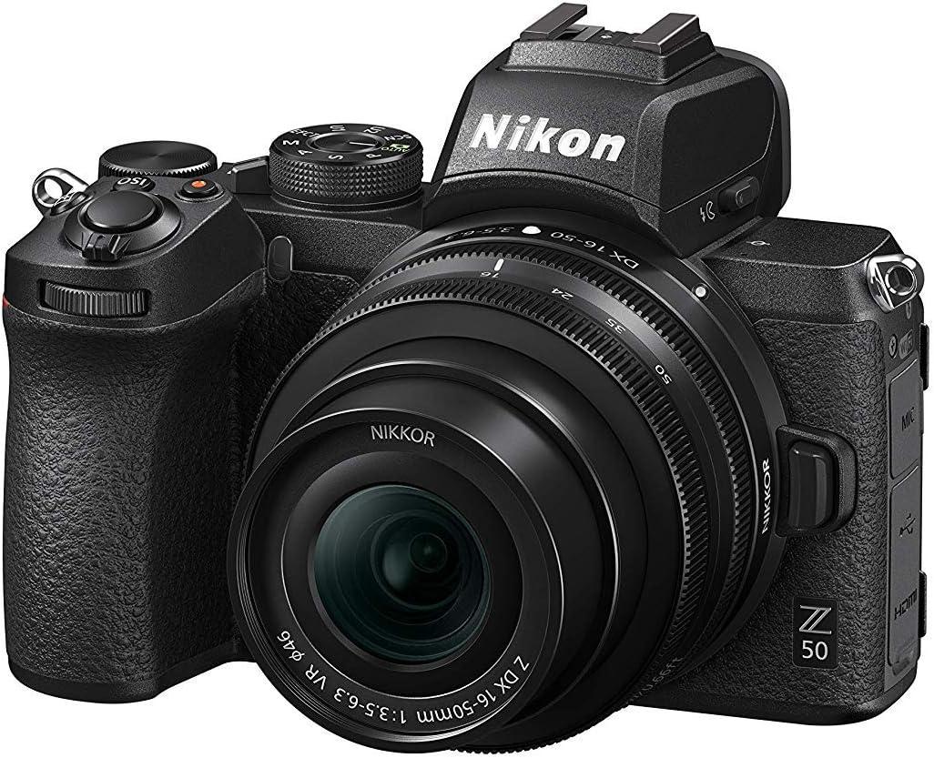 Nikon Z50 - Cámara sin Espejo con Objetivo 16-50 DX VR y FTZ SD2 ...