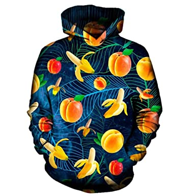 Fruit Banana Peaches 3D Hoodie Hoodies Men Women New Fashion Hip Hop Streetwear Sudadera Hombre Casual