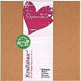 Papermania–Bloque de 20hojas de papel de envolver ecológico de color marrón 20,3x 20,3cm