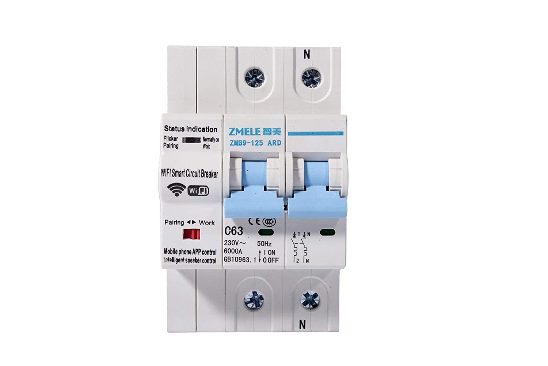 eMylo Disjoncteur Intelligent WiFi 1P 63A Commutateur Smart Circuit Breaker Disjoncteur Interrupteur Disjoncteur 230V AC 13KW /électriques Commutateur Avec r/églage de la fonction de retard