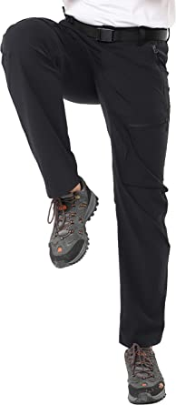 Lightweight and Water Resistant MIER Mens Tactical Cargo Pants Quick Dry Convertible Hiking Pants with 7 Pockets