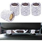 Car Headrest Head Rest Collars Rings Decor Bling Bling Crystal Diamond Ice for Car SUV Truck Interior Decoration Blings 4 Pac