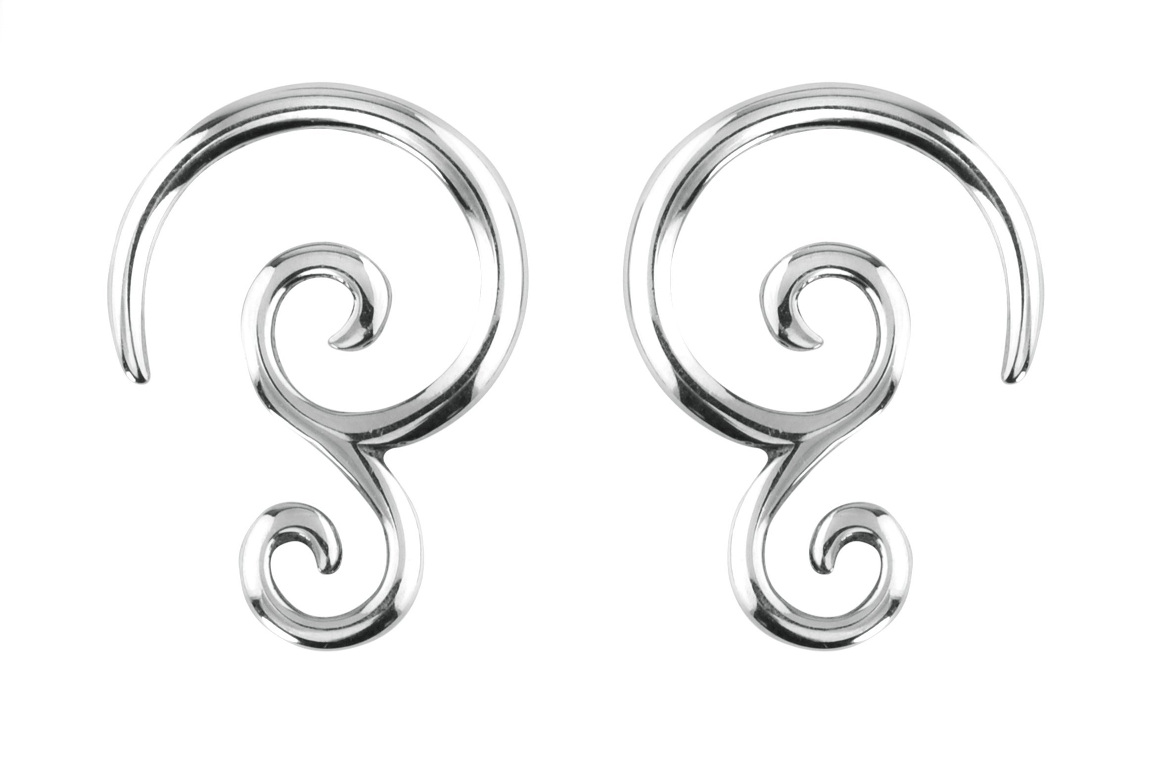 Forbidden Body Jewelry Pair of 10g (2.4mm) Surgical Steel Solid Tribal Design Taper Earrings by Forbidden Body Jewelry