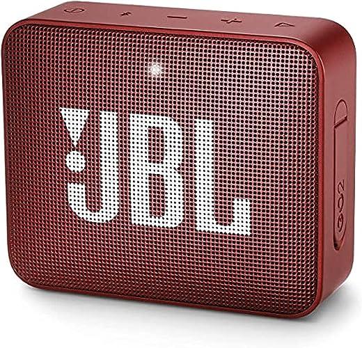 JBL GO 2 by Harman Portable Waterproof Bluetooth Speaker with mic (Red)