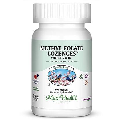 Amazon.com: Vitamina B12 methyl Kosher ácido fólico lozenges ...
