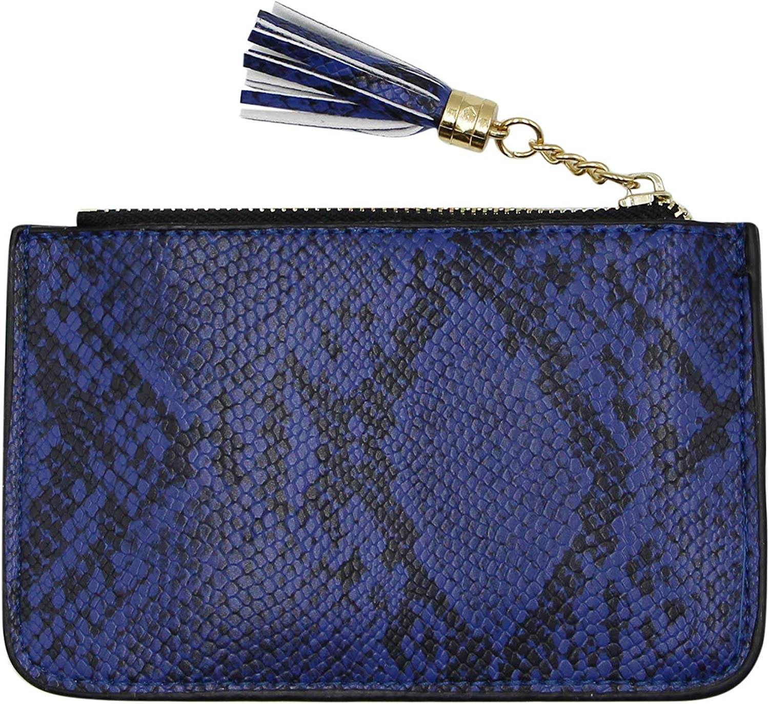 Amazon Com Suillty Women Snakeskin Leather Coin Purse Credit Card Holder Wallet Pouch With Key Chain Tassel Zip Shoes