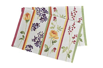 Avira Home Polycotton Floral Lines Table Mats, Set Of 2, (Multicolor) <span at amazon