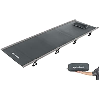 KingCamp Ultralight Compact Folding Camping Cot Bed, 4.4 Pounds (Grey): Sports & Outdoors