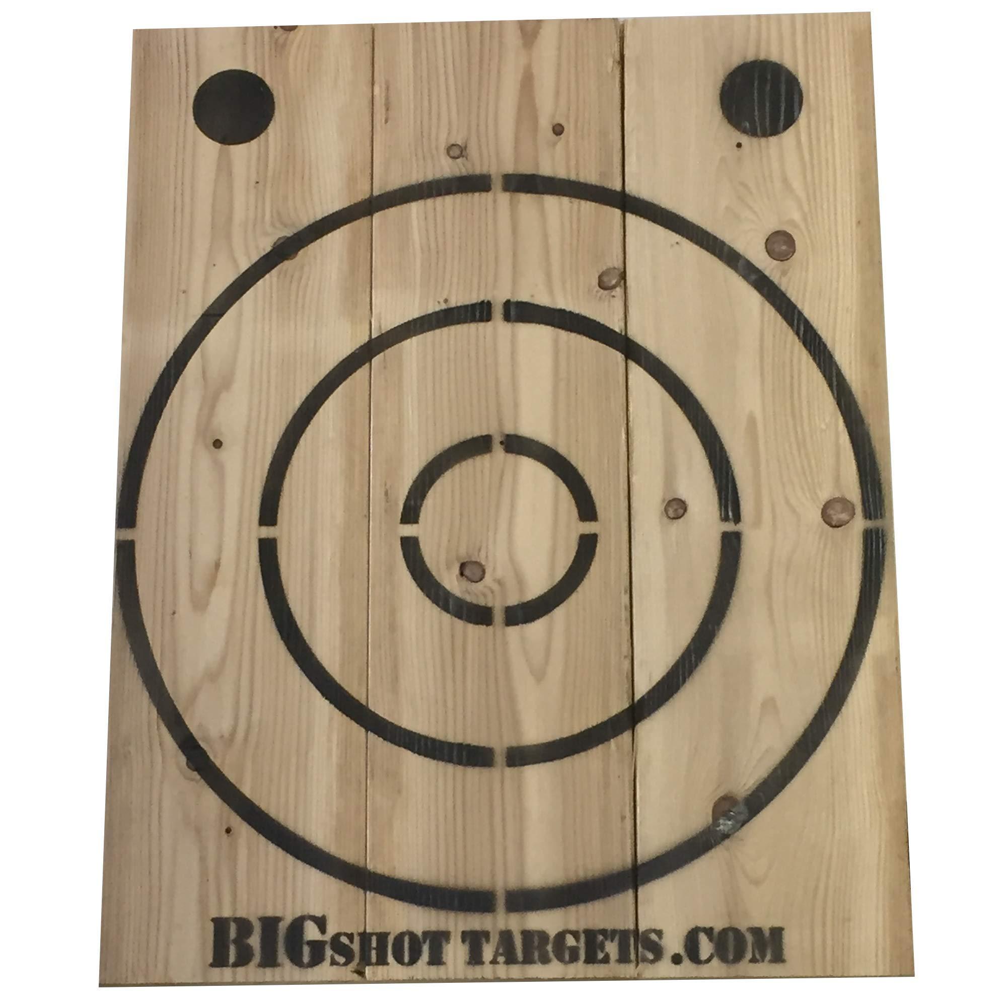 BIGSHOT Wooden Axe Throwing Target with Bottle Opener