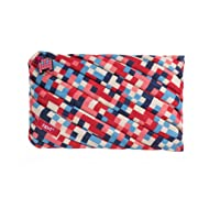 ZIPIT ZTJ-PX-1 Pixel Big Pencil Case/Cosmetic Makeup Bag - Blue/Red