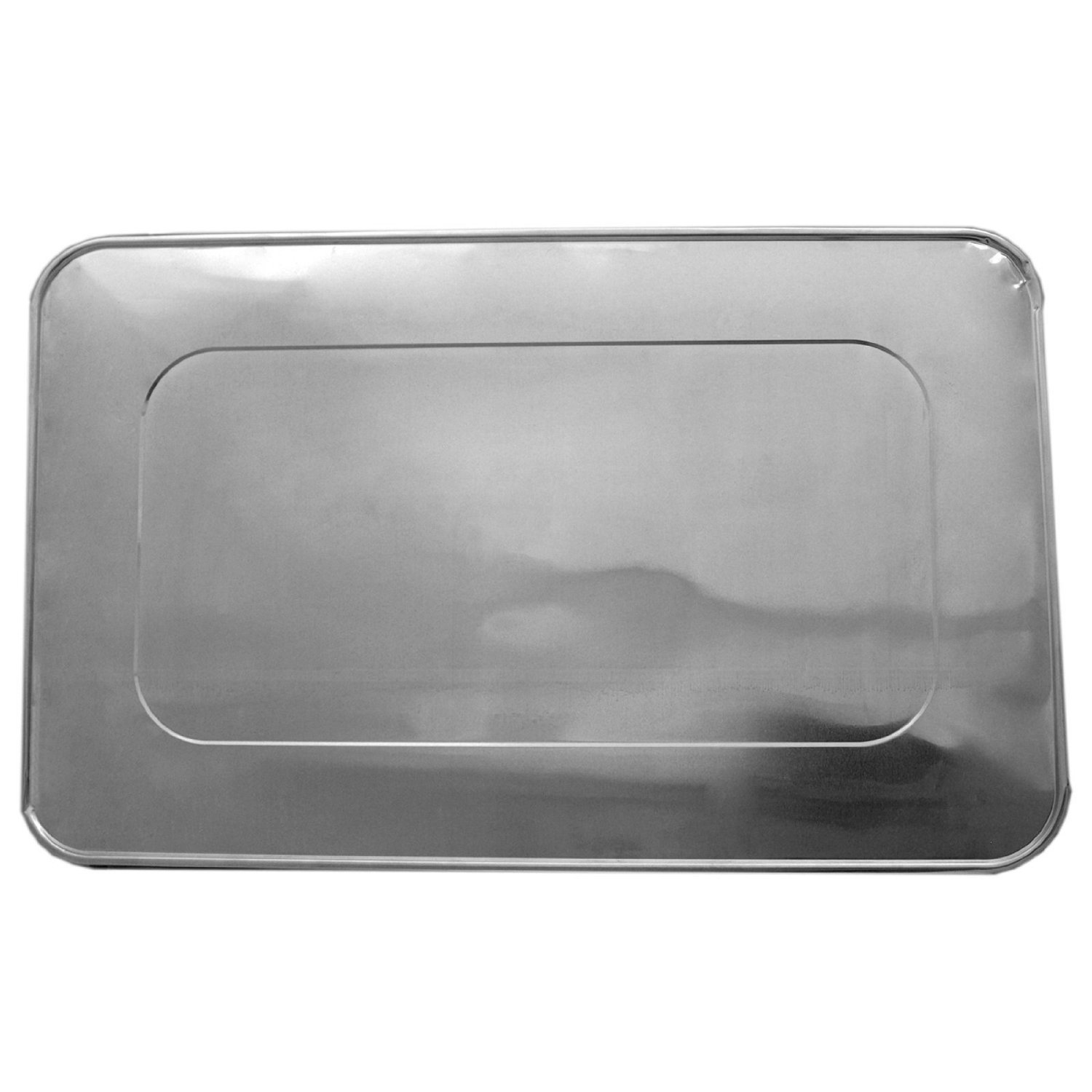 TigerChef TC-20557 Durable Full Size Steam Table Deep Aluminum Pan with Aluminum Foil Lids, Multi-Purpose Disposable Pans with Covers, 21'' x 13'' Size (Pack of 100)