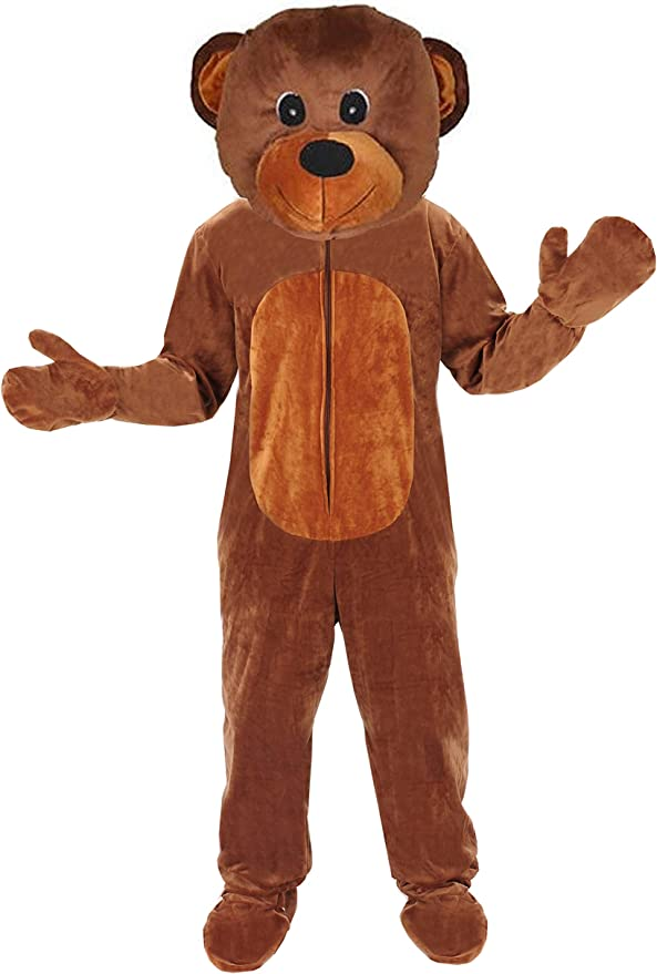 Teddy Bär Einheitsgrösse L XL Kostüm Fasching Karneval Braunbär Erwachsene