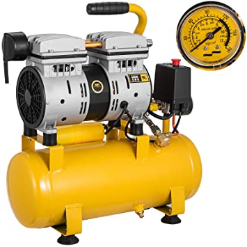 Precision 25L Silent Quiet Dental Medical Clinic Oil Free Air Compressor 750W