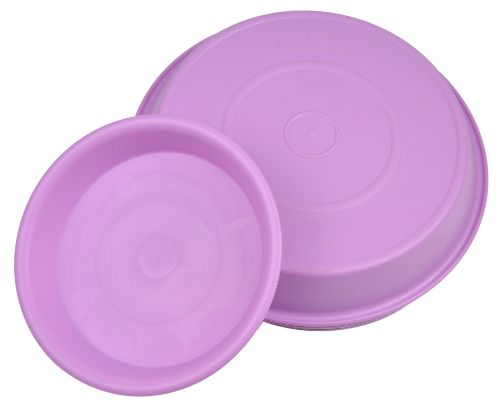 6.9'' Round Plant Saucer Planter Tray Pat Pallet for Flowerpot,Purple,1080 Count by Zhanwang (Image #2)