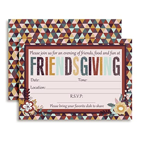 amazon com friendsgiving party invitations thanksgiving with