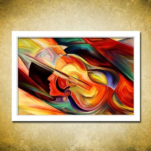 WSNDGWS Instrumento Musical Guitarra Violín Decoración Abstracto ...
