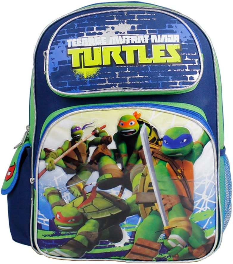 Backpack - Teenage Mutant Ninja Turtles - In Battle Blue and Green New 635237