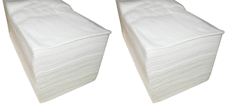 pack de 2 paquetes de 100Unds Toallas desechables Spun-Lace 40 * 80 cm color Blanco Peluquer/ía//Est/ética Total 200Unds