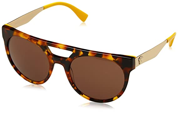 11b94ec4762fa Amazon.com  Versace VE 4339 524973 HAVANA YELLOW sunglasses  Clothing