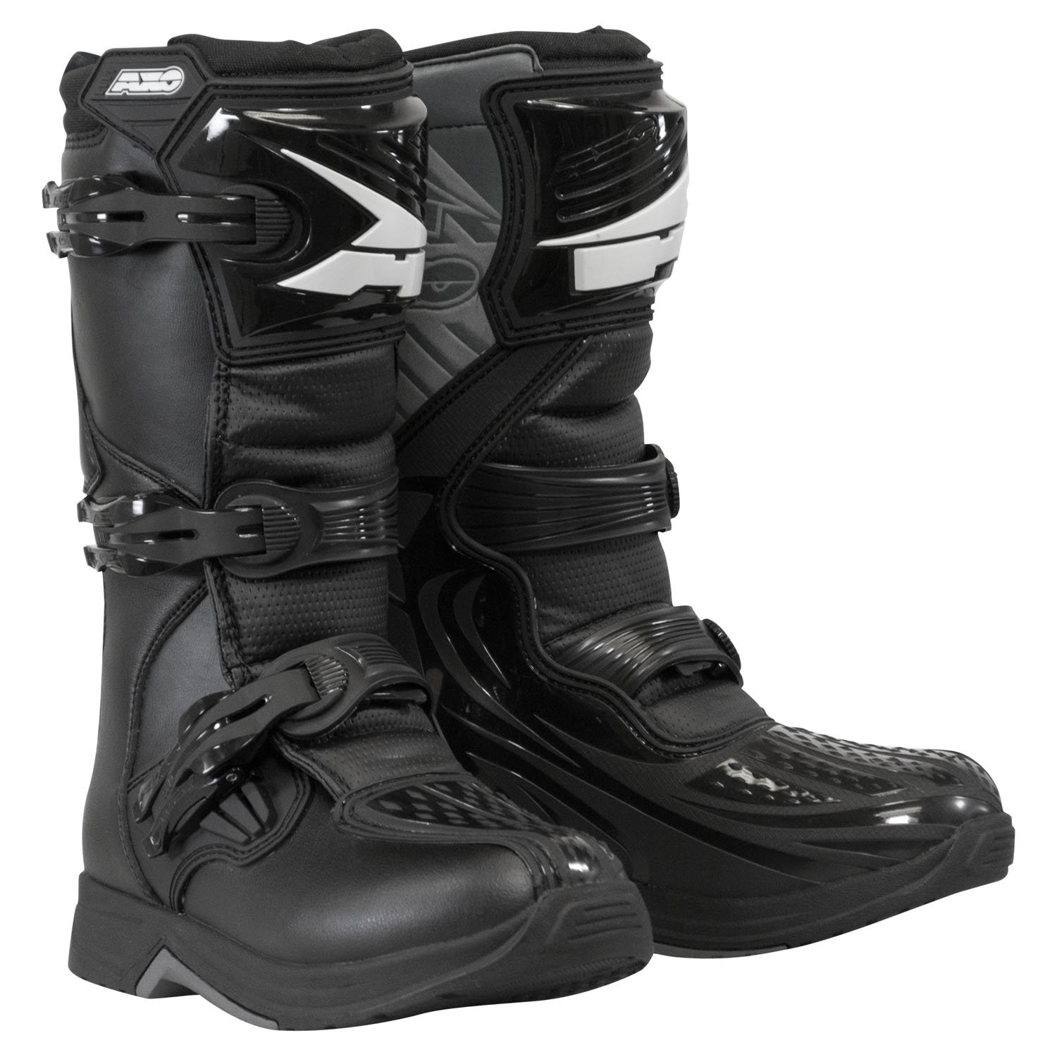 AXO Unisex-Child Drone Youth Boots (Black, Size 6) by AXO