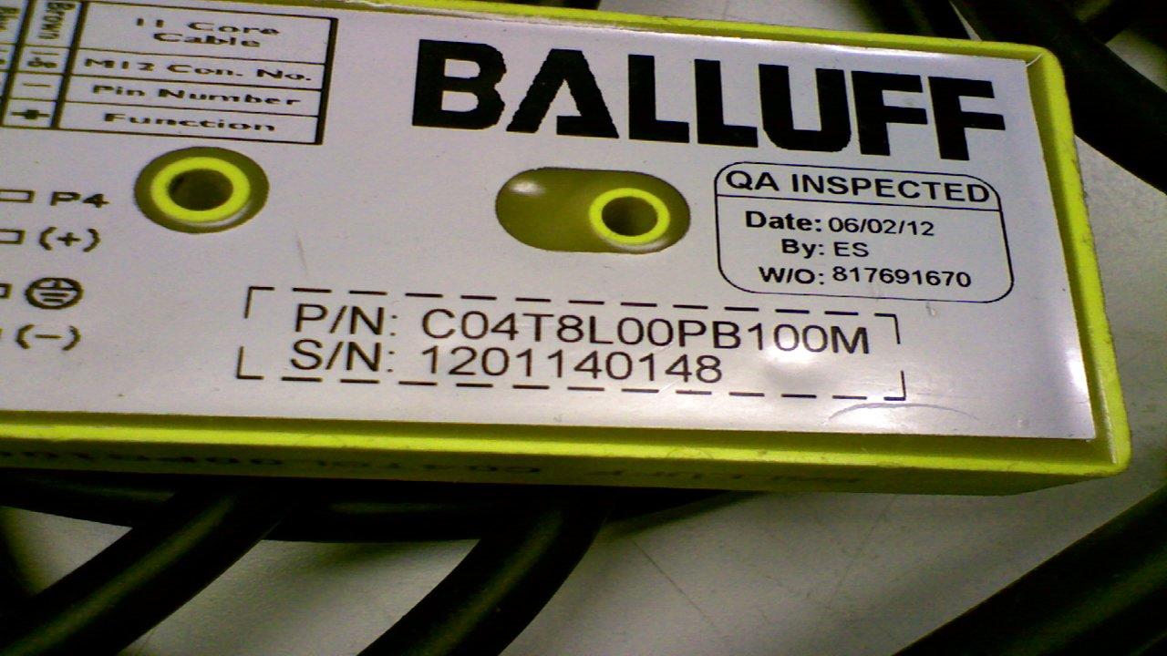 Balluff C04t8l00pb100m Cordset Junction Block 8 Ports Single End 10M C04t8l00pb100m