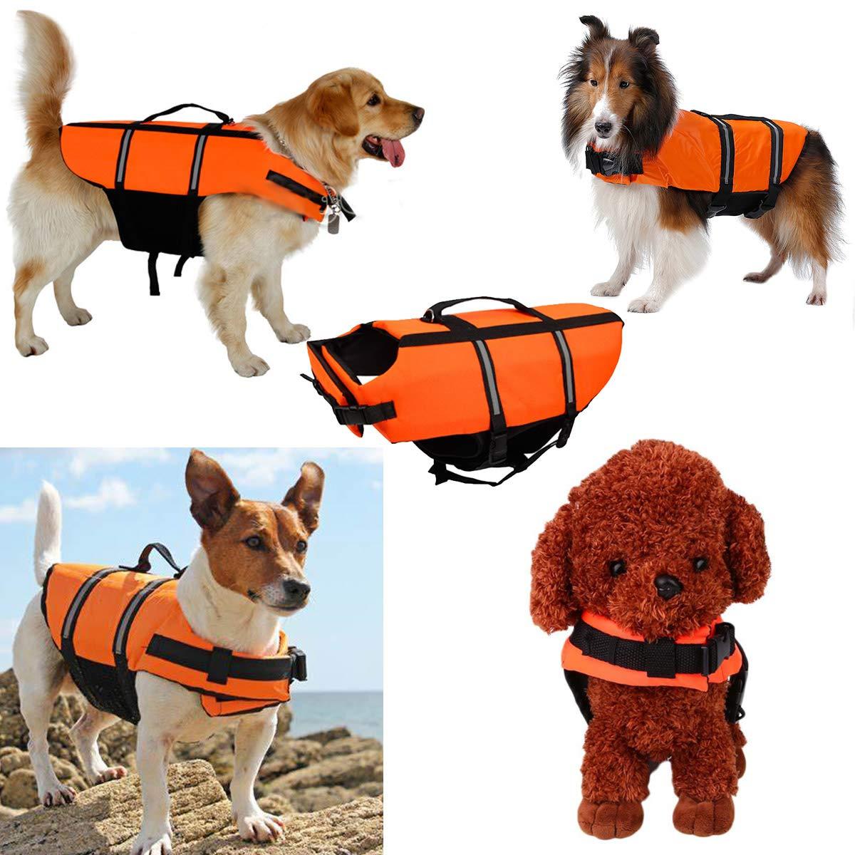 A-MORE Dog Life Jackets Dog Saver Life Jacket Dog Swimming Vest Adjustable Life Jacket for Dogs