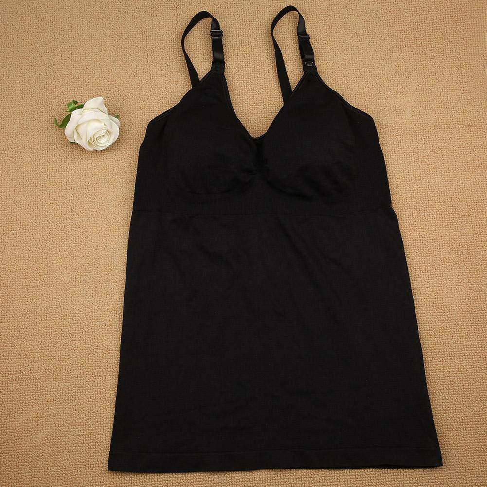 Nursing Bra Vest Women Nursing Bra Vest Hands Free Pumping Bra Maternity Breast Pump Feeding Shapewear XL-Black
