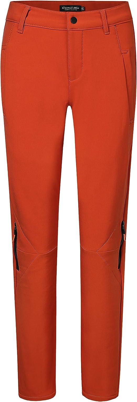 Camii Mia Womens Winter Warm Outdoor Slim Windproof Waterproof Ski Snow Fleece Hiking Pants