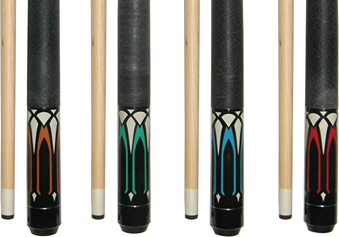 GSE Games /& Sports Expert 58 2-Piece Canadian Maple Billiard Pool Cue Stick 4 Colors, 18-21oz