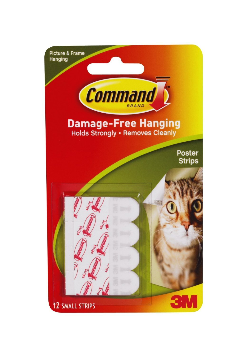 Command Poster Strips, 12-Strip, 3-pack 3M MMM17024-B